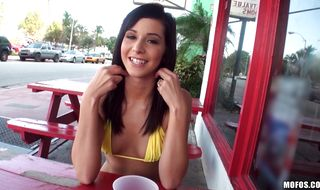 Beautiful maid Layla Lopez got butt fucked by fucker and enjoyed it a lot