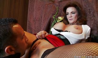 Astounding mature chick Deauxma has a slippery butt the stud is drilling down