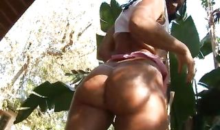 Playful girl Sandra Romain with tight butt receives a hard lovestick
