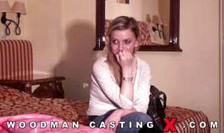 Blonde floozy is about to have anal sex for the first time ever with pussy tester