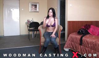 Sassy brunette lady bends over for bf and gets his hard pipe deep inside her tight booty