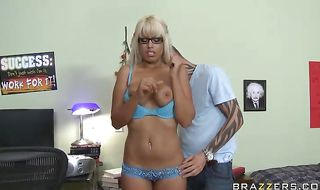Awesome latin Bridgette B getting booty fucked by her rock hard man