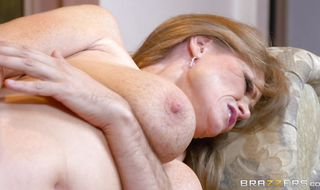 Prurient busty redhead bombshell Darla Crane can't wait to get some love stick in her butt