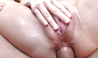 Stupendous Julie gives a messy blowjob before having her butt fucked