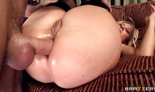 Enticing blonde perfection Devon Lee has her butt deeply penetrated