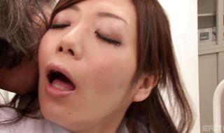 Racy busty gal Nachi Sakaki takes stick in her delicious pierced bum