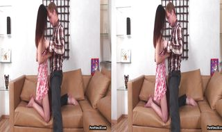 Playsome blonde Mila receives ass diving and fucking of her life