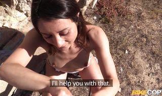 Sweet cutie wants stranger's schlong deep inside her butt