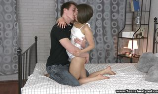 Luscious brunette woman got anal fucked while her naive dude was out of town
