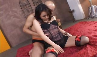 Marvelous Rui Natsukawa is banged from behind in a hardcore anal slamming scene