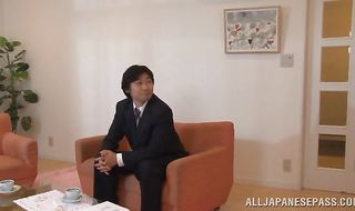 Big pulsating wang makes fresh woman Reira Aisaki's smooth booty ask for more