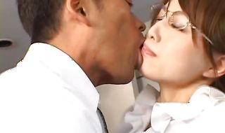 Busty sweetheart Akiho Yoshizawa has a thing for having anal sex with stud