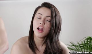 Beautiful Ashley gave a blowjob to pussy tester before he ass fucked her brains out