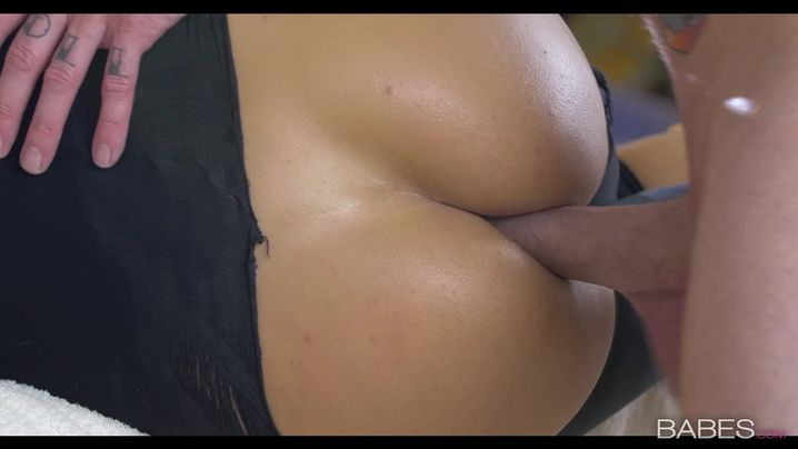 Filthy honey Martina Gold is being pounded in her tight butt