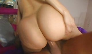 Sensual brunette cutie Sheila Marie bends over and gets bum banged by the pool