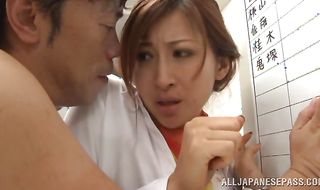 Adorable Reira Aisaki is being pounded in her ass from behind