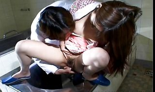 Stupefying barely legal Rin got her bum licked and drilled the way she likes