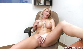Blonde Missy Woods is about to have casual anal sex in the back of