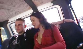 Naked brunette Dede is getting fucked in her ass by stranger