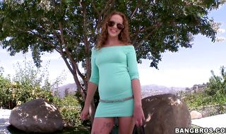 Extraordinary brunette Kimber Day is bum banged by a bf