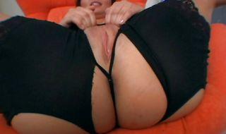 Astonishing brunette hottie Katja Kassin eagerly pumps her bum on a firm trouser snake