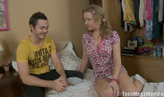 Divine sweetie Rose enjoys in tongue exploring her honey pot before anal fucking