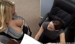 Wicked blonde sweetheart Blake Rose with firm tits asked boyfriend to fuck her brains out so he fucked her tight butt
