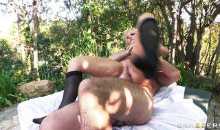Engaging Kimmy Olsen enjoys passionate anal sex