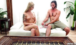 Lusty cutie Ryan Riesling decided to ask hunk to fuck her butt