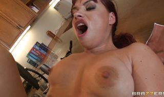 Nasty redhead girlie Olga Cabaeva gets her bum drilled by a stiff shlong