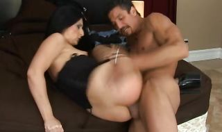 Dishy latina Luscious Lopez got her cave licked and fucked from the back and then she had anal sex