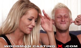 Mesmerizing blonde perfection stirs her ass on a shaft