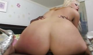 Beguiling blonde Tara Lynn Foxx bends over and lets male slap her ass and fuck her silly
