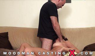 Enticing girlie got a hard slim jim up her tight booty until she cummed