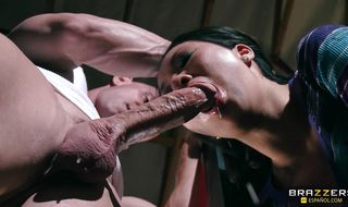 Mesmerizing maiden Asa Akira's meaty butt easily accommodates her fuckmate's large dinky