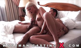 Classy blonde sweetie gets her tight booty fucked good