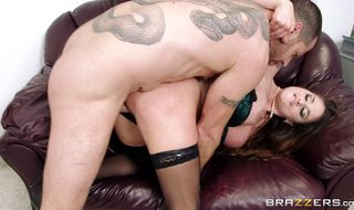 Striking hottie Cathy Heaven enjoys some fine anal banging from fuckmate who just loves butt